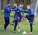 07.03.2019 Rangers training: Andy Halliday and Steven Davis