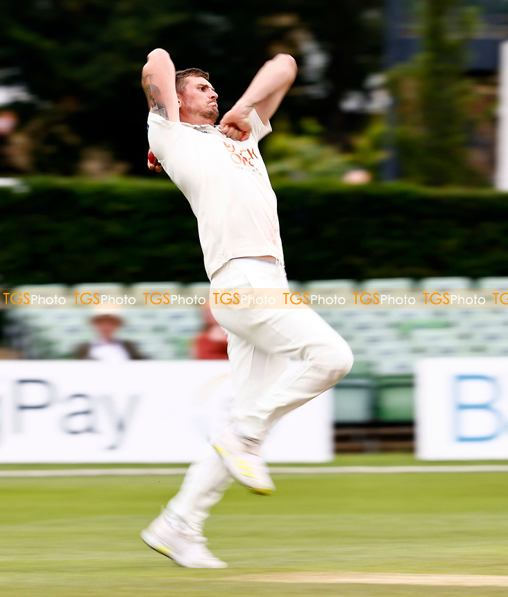 Harry Podmore bowls for Kent during Kent CCC vs Sussex CCC, LV Insurance County Championship Group 3 Cricket at The Spitfire Ground on 14th July 2021