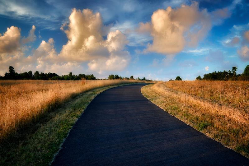 Path in Graham Oaks Nature Preserve. Wilsonville, Oregon