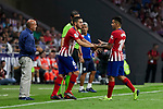 Atletico de Madrid's Koke Resurreccion (l) and Angel Martin Correa (r) during La Liga match. August 25, 2018. (ALTERPHOTOS/A. Perez Meca)