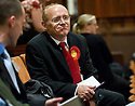 07/05/2010   Copyright  Pic : James Stewart.sct_js008_ochil_south_perthshire_count  .::  SCOTTISH LABOUR PARTY CANDIDATE, GORDON BANKS AWAITS THE RESULT AT THE OCHIL & SOUTH PERTHSHIRE ELECTION COUNT AT ALLOA TOWN HALL ::  .James Stewart Photography 19 Carronlea Drive, Falkirk. FK2 8DN      Vat Reg No. 607 6932 25.Telephone      : +44 (0)1324 570291 .Mobile              : +44 (0)7721 416997.E-mail  :  jim@jspa.co.uk.If you require further information then contact Jim Stewart on any of the numbers above.........