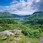 Ireland, County Kerry, near Killarney, Killarney National Park: Ladies' View, looking down to the Upper Lake  Irland, County Kerry, bei Killarney, Killarney National Park: Ladies' View mit Blick ueber den Upper Lake
