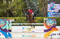 3rd October 2021;  Real Club de Polo, Barcelona, Spain; CSIO5 Longines FEI Jumping Nations Cup Final 2021; Schyler Riley from USA during the FEI Jumping Nations Cup Final 2021