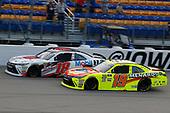 #18: Kyle Benjamin, Joe Gibbs Racing, Toyota Camry Toyota Service Centers/Mobil 1 and #19: Brandon Jones, Joe Gibbs Racing, Toyota Camry Menards/Tide