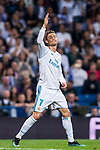 Cristiano Ronaldo of Real Madrid reacts during the La Liga 2017-18 match between Real Madrid and Athletic Club Bilbao at Estadio Santiago Bernabeu on April 18 2018 in Madrid, Spain. Photo by Diego Souto / Power Sport Images