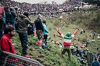 Tifosi up the infamous Monte Zoncolan (1735m/11%/10km)<br /> <br /> stage 14 San Vito al Tagliamento – Monte Zoncolan (186 km)<br /> 101th Giro d'Italia 2018