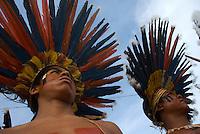 X JOGOS DOS POVOS INDÍGENAS <br /> Bororo Boi do Mato Grosso.<br /> Os Jogos dos Povos Indígenas (JPI) chegam a sua décima edição. Neste ano 2009, que acontecem entre os dias 31 de outubro e 07 de novembro. A data escolhida obedece ao calendário lunar indígena. com participação  cerca de 1300 indígenas, de aproximadamente 35 etnias, vindas de todas as regiões brasileiras. <br /> Paragominas , Pará, Brasil.<br /> Foto Paulo Santos<br /> 03/11/2009