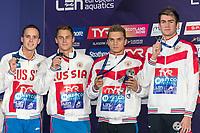 Team RUSSIASilver Medal<br /> KOLESNIKOVKliment<br /> CHUPKOVAnton<br /> KUIMOVEgor<br /> MOROZOVVladimir<br /> 4x100m Medley Relay Men<br /> Glasgow 09/08/2018<br /> Swimming Tollcross International Swimming Centre<br /> LEN European Aquatics Championships 2018 <br /> European Championships 2018 <br /> Photo Giorgio Scala/ Deepbluemedia /Insidefoto
