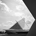 In Milwaukee, Wisconsin at the Museum Of Art's Quadracci Pavillon, visitors enjoy the view.