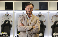 Pictured: Former Chelsea midfielder Gabriele Ambrosetti has been recruited to Francesco Guidolin's coaching team at the Liberty Stadium Monday 18 January 2016<br /> Re: Swansea have appointed former Udinese manager Francesco Guidolin as their new head coach.<br /> The Italian will work alongside Alan Curtis until the end of the season.<br /> Guidolin, 60, has previously managed several clubs in Italy, including Palermo and Parma, as well as French league side Monaco.