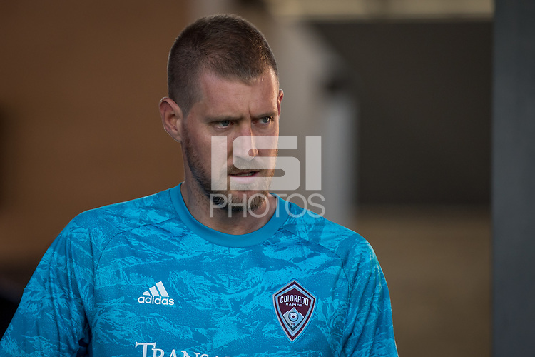 SAN JOSÉ CA - JULY 27: Clint Irwin #31 during a Major League Soccer (MLS) match between the San Jose Earthquakes and the Colorado Rapids on July 27, 2019 at Avaya Stadium in San José, California.