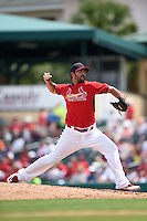 St. Louis Cardinals pitcher Carlos Villanueva (33) during a Spring Training game against the New York Mets on April 2, 2015 at Roger Dean Stadium in Jupiter, Florida.  The game ended in a 0-0 tie.  (Mike Janes/Four Seam Images)