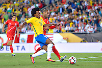 Photo during the match Brasil vs Peru, Corresponding to  Group -B- of the America Cup Centenary 2016 at Gillette Stadium.<br /> <br /> Foto durante al partido Brasil vs Peru, Correspondiente al Grupo -B- de la Copa America Centenario 2016 en el Estadio Gillette en la foto: Willian<br /> <br /> <br /> 12/06/2016/MEXSPORT/ISAAC ORTIZ