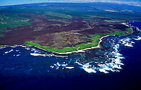 Aerial of South Point, Big Island of Hawaii