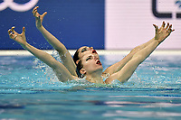 GONCALVES Maria Beatriz / VIEIRA Cheila POR <br /> Duet Free - Preliminary<br /> Artistic Swimming<br /> Budapest  - Hungary  11/5/2021<br /> Duna Arena<br /> XXXV LEN European Aquatic Championships<br /> Photo Andrea Staccioli / Deepbluemedia / Insidefoto