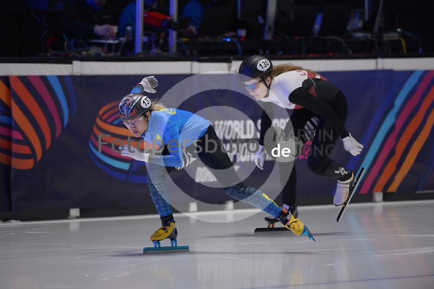 SPEEDSKATING: DORDRECHT: 06-03-2021, ISU World Short Track Speedskating Championships, RF 500m Ladies, Yana Khan (KAZ), ©photo Martin de Jong