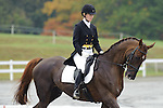 Pippa Moon (USA)  aboard Ribbo competing in dressage during day one  Fair Hill International in Fair Hill, MD  on 10/14/11.  (Ryan Lasek / Eclipse Sportwire)