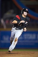 Richmond Flying Squirrels third baseman Christian Arroyo (22) running the bases during a game against the Akron RubberDucks on July 26, 2016 at Canal Park in Akron, Ohio .  Richmond defeated Akron 10-4.  (Mike Janes/Four Seam Images)