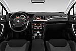 Stock photo of straight dashboard view of 2016 Citroen C5-Berline Business 4 Door Sedan Dashboard