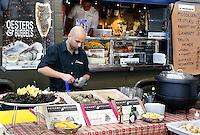 Nederland Amsterdam 2015 11 28. Foodfestival met food trucks in de Rai. De Mosselbar, Oesterclub. Foto Berlinda van Dam / Hollandse Hoogte