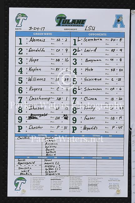Tulane falls to number one, LSU, 13-7.