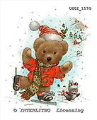 GIORDANO, CHRISTMAS ANIMALS, WEIHNACHTEN TIERE, NAVIDAD ANIMALES, Teddies, paintings+++++,USGI1170,#XA#