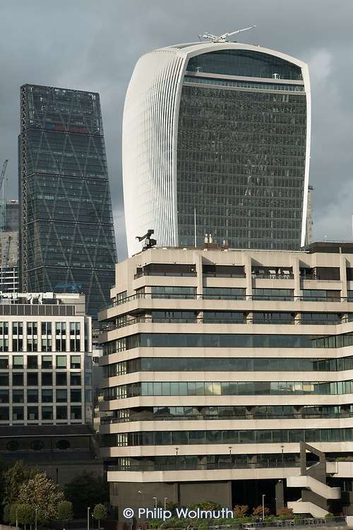 The Walkie Talkie building, 20 Fenchurch Street, and the Cheesegrater, London EC3M