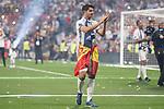Real Madrid Alvaro Morata during the celebration of the 13th UEFA Championship at Santiago Bernabeu Stadium in Madrid, June 04, 2017. Spain.<br /> (ALTERPHOTOS/BorjaB.Hojas)