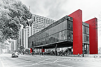 Museum of Art of São Paulo Assis Chateaubriand on Avenida Paulista in Sao Paulo, Brazil
