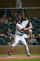 Scottsdale Scorpions second baseman Carlos Asuaje (3) at bat during an Arizona Fall League game against the Salt River Rafters on October 13, 2015 at Salt River Fields at Talking Stick in Scottsdale, Arizona.  Salt River defeated Scottsdale 5-3.  (Mike Janes/Four Seam Images)