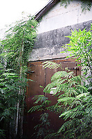 Old abandoned building  and overgrown foliage<br />