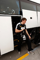 Photo: Richard Lane/Richard Lane Photography. London Wasps in Abu Dhabi for their LV= Cup game against Harlequins on 30th January 2011. 01/02/2011. Wasps' James Cannon at the airport.