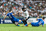Tottenham Hotspur midfielder Georges-Kevin Nkoudou (L) fights for the ball with SC Kitchee midfielder Lum Jared Christopher (R) during the Friendly match between Kitchee SC and Tottenham Hotspur FC at Hong Kong Stadium on May 26, 2017 in So Kon Po, Hong Kong. Photo by Man yuen Li  / Power Sport Images