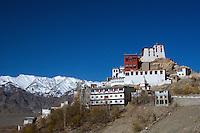 Thiksey Monastery and the Zanskar Range near Leh, Ladakh