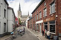 the breakaway group starting their climb up the Alsemberg<br /> <br /> 60th De Brabantse Pijl 2020 - La Flèche Brabançonne (1.Pro)<br /> 1 day race from Leuven to Overijse (BEL/197km)<br /> <br /> ©kramon