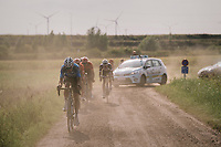 """Wout Van Aert (BEL/Veranda's Willems-Crelan) tries to cross the gap to the race leaders ahead<br /> <br /> Antwerp Port Epic 2018 (formerly """"Schaal Sels"""")<br /> One Day Race:  Antwerp > Antwerp (207 km; of which 32km are cobbles & 30km is gravel/off-road!)"""