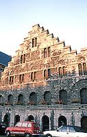 Ghent: 13th C. Granary, Graslei.  Photo '87.