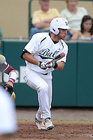 South Florida Bulls outfielder Hayden Kelley (15) during a game against the Florida State Seminoles on March 5, 2014 at Red McEwen Field in Tampa, Florida.  Florida State defeated South Florida 4-1.  (Mike Janes/Four Seam Images)