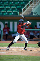 Jonathan McCray (3) of the Idaho Falls Chukars bats against the Ogden Raptors in Pioneer League action at Lindquist Field on July 2, 2017 in Ogden, Utah. Ogden defeated Idaho Falls 6-5. (Stephen Smith/Four Seam Images)