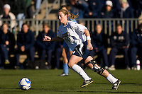 Notre Dame Fighting Irish midfielder Brittany Bock (10). The North Carolina Tar Heels defeated the Notre Dame Fighting Irish 2-1 during the finals of the NCAA Women's College Cup at Wakemed Soccer Park in Cary, NC, on December 7, 2008. Photo by Howard C. Smith/isiphotos.com