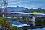 The Windsor-Cornish covered bridge in Windsor, Vermont, USA