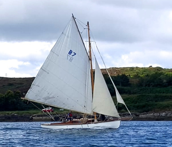 Back where she belongs - the restored Lady Min has her first sail in her re-born form at Schull on Sunday
