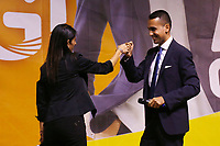 Virginia Raggi and Luigi Di Maio on the stage during the closing of the election campaign for the new mayor of the Rome.<br /> Rome (Italy), October 1st 2021<br /> Photo Samantha Zucchi Insidefoto