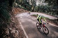 Fumiyuki BEPPU (JAP/Trek-Segafredo) during a full effort ascent<br /> <br /> Team Trek-Segafredo men's team<br /> training camp<br /> Mallorca, january 2019<br /> <br /> ©kramon