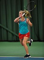Rotterdam, The Netherlands, 07.03.2014. NOJK ,National Indoor Juniors Championships of 2014, Shura Poppe (NED)<br /> Photo:Tennisimages/Henk Koster