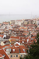 City view. From Castelo de Sao Jorge. Lisbon, Portugal