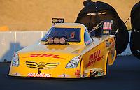 Jul. 29, 2011; Sonoma, CA, USA; NHRA funny car driver Jeff Arend during qualifying for the Fram Autolite Nationals at Infineon Raceway. Mandatory Credit: Mark J. Rebilas-