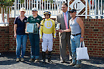 19 June 2010: Award for Lady Rizzi winning the Buckland Stakes race at Colonial Downs in New Kent, Va. Lady Rizzi is owned by Benchmark Racing Stable, trained by Linda Rice