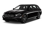 2021 Mercedes Benz E-Class-Wagon E450-All-Terrain 5 Door Wagon Angular Front automotive stock photos of front three quarter view