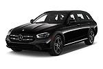 2021 Mercedes Benz E-Class-Wagon E450-All-Terrain 5 Door Wagon Angular Front automotive stock photos of front three quarter view